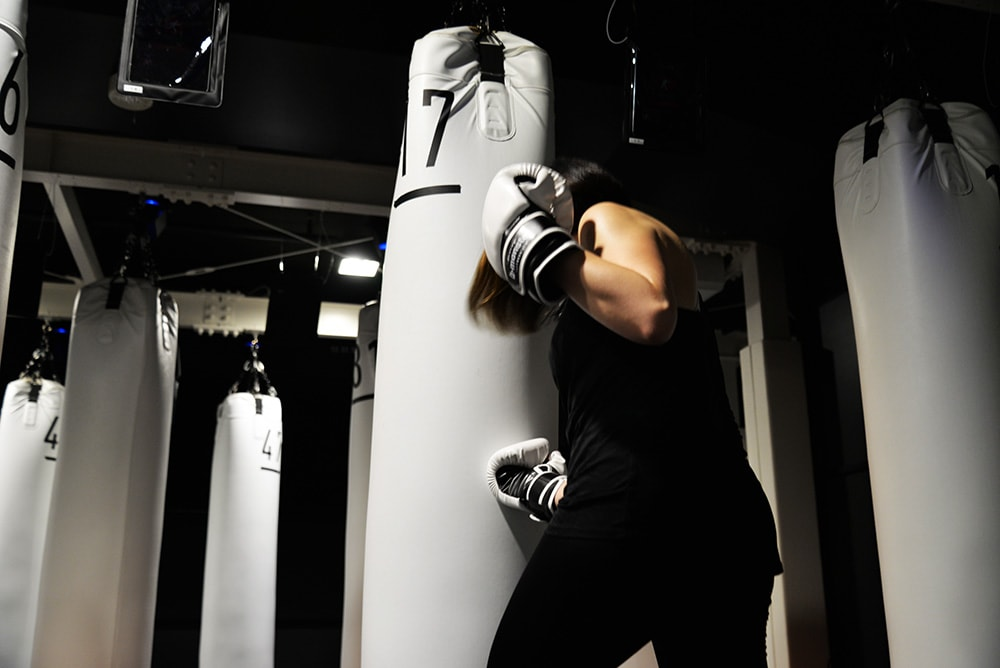 b-monsterお客様インタビュー山上志麻さん。ボクシング写真