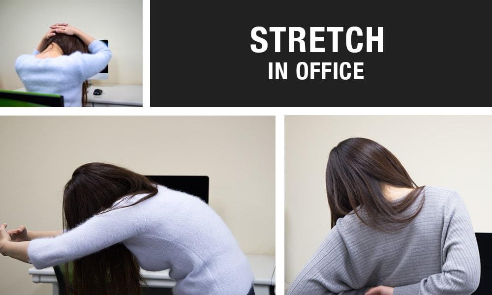 オフィスでもできる首・肩・背中のストレッチ