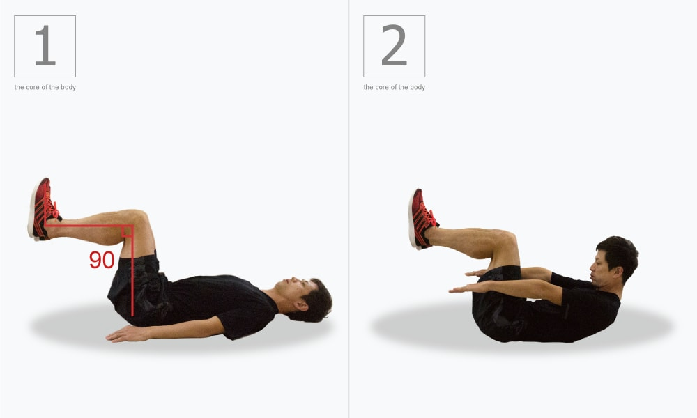 腹直筋・腹斜筋・大腰筋を鍛えるももあげクランチ