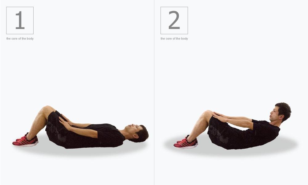 上腹部を鍛える体幹トレ